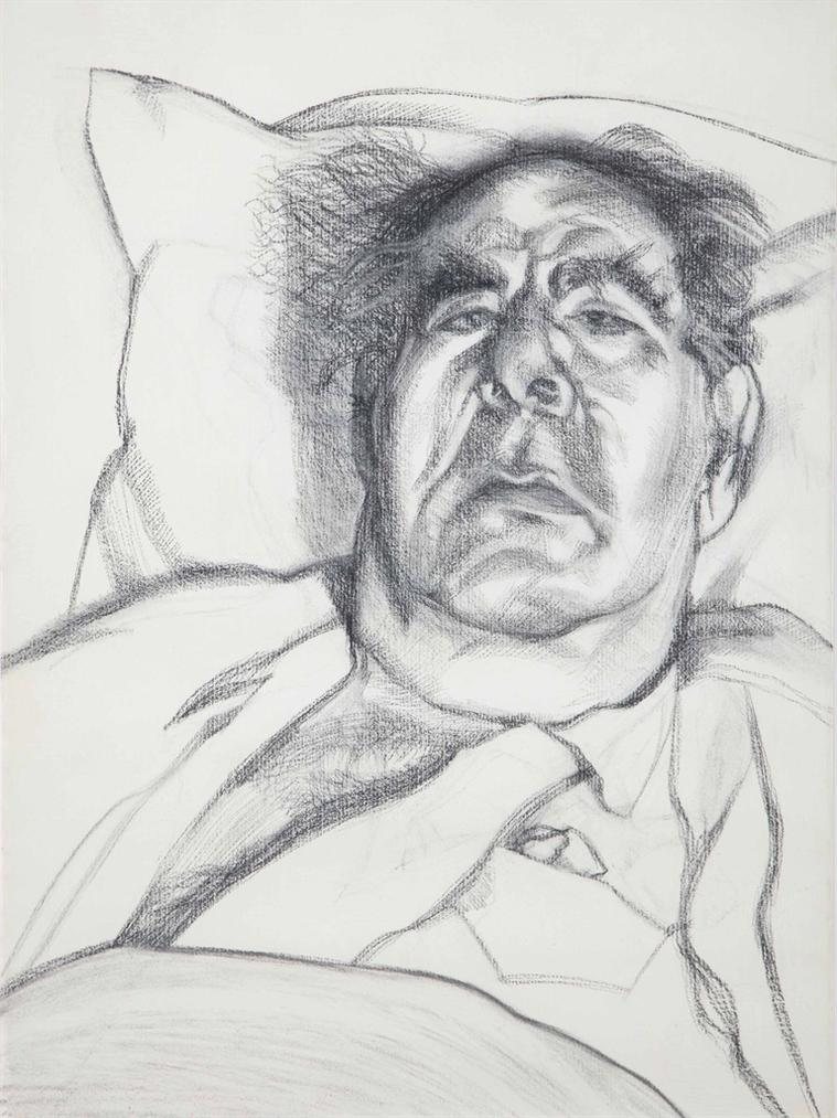 Lucian Freud-Lord Goodman-1985