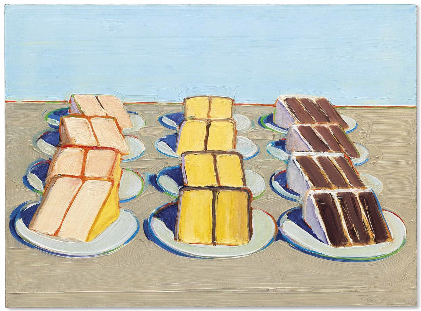 Wayne Thiebaud-Cake Rows-1962