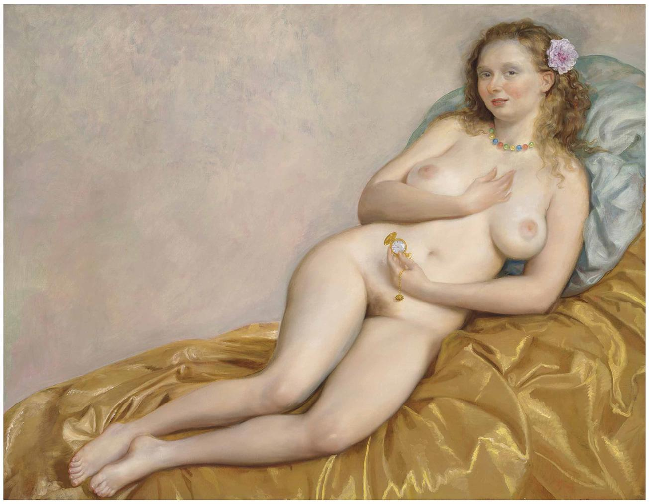 John Currin-Venus With Watch-2014