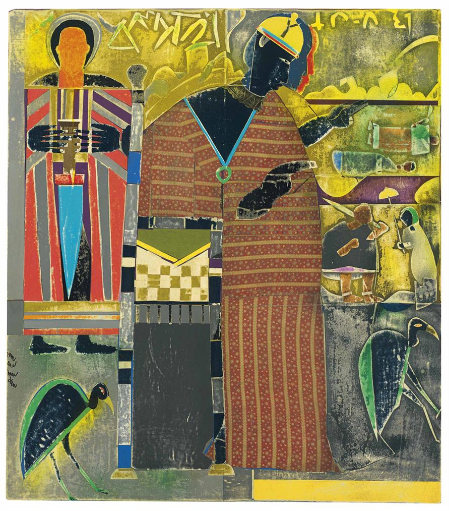 Romare Bearden-Inscriptions At The City Of Brass-1972