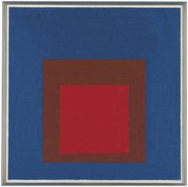 Josef Albers-Study To Homage To The Square: In Space-1956