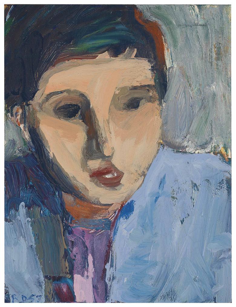 Richard Diebenkorn-Portrait Of N.S.-1957