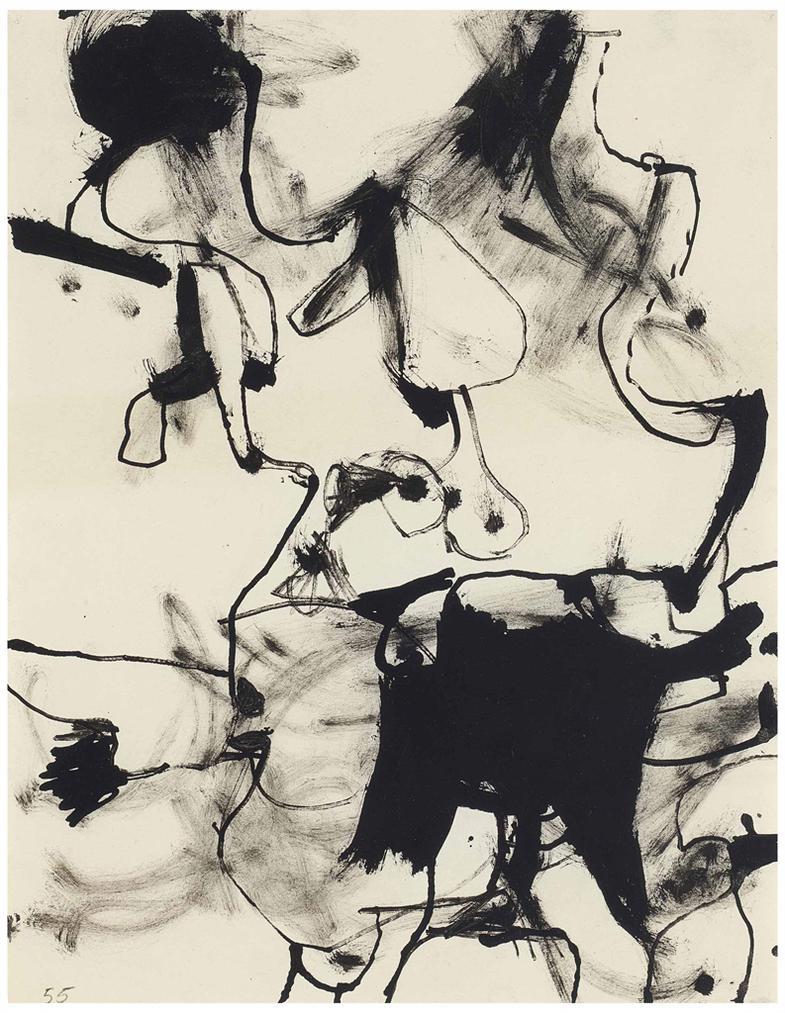 Richard Diebenkorn-Untitled (Berkeley)-1955
