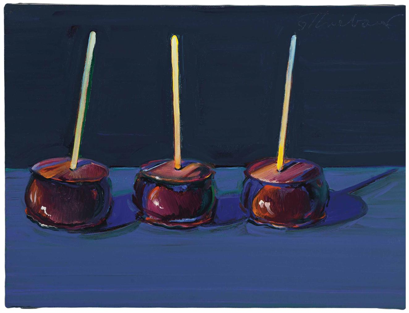 Wayne Thiebaud-Three Candied Apples-1999