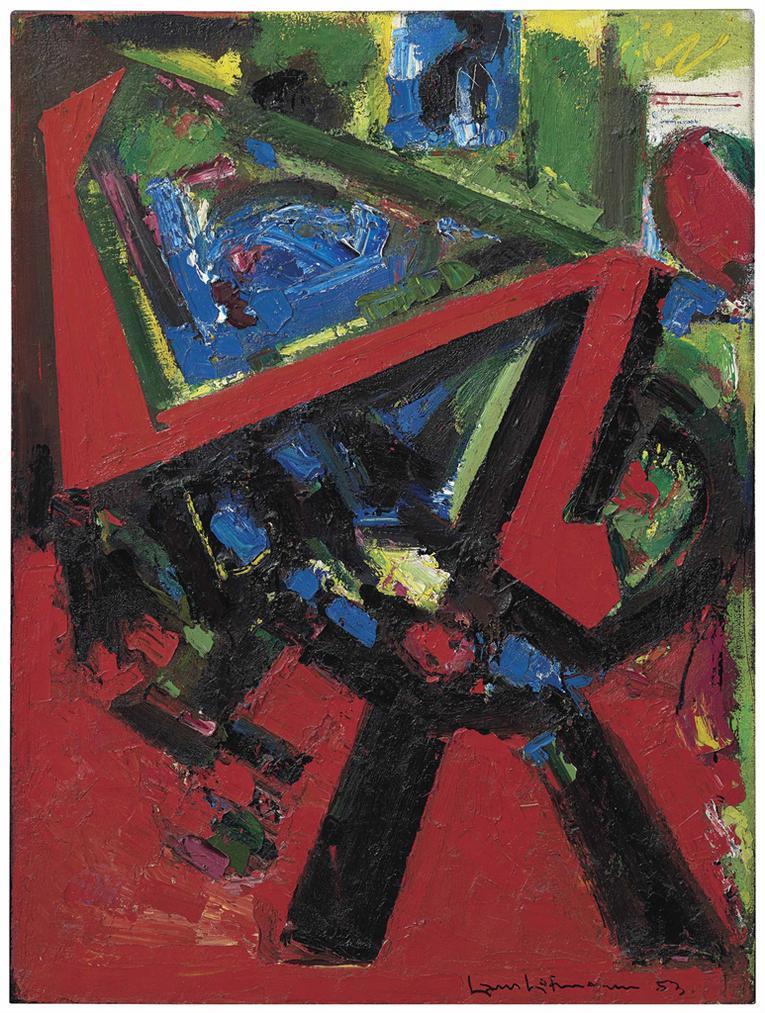 Hans Hofmann-Red Flight-1953