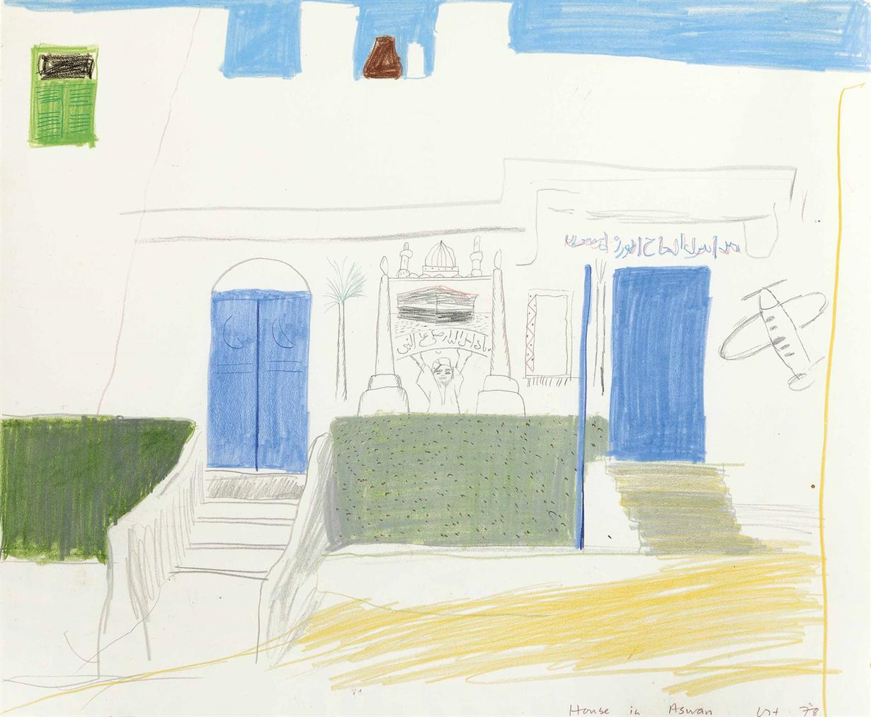 David Hockney-House In Aswan-1978