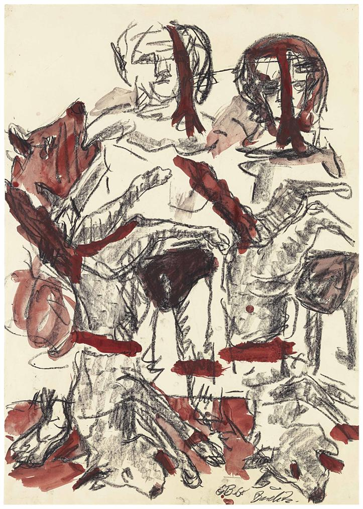 Georg Baselitz-Untitled (B. Fur Larry)-1968