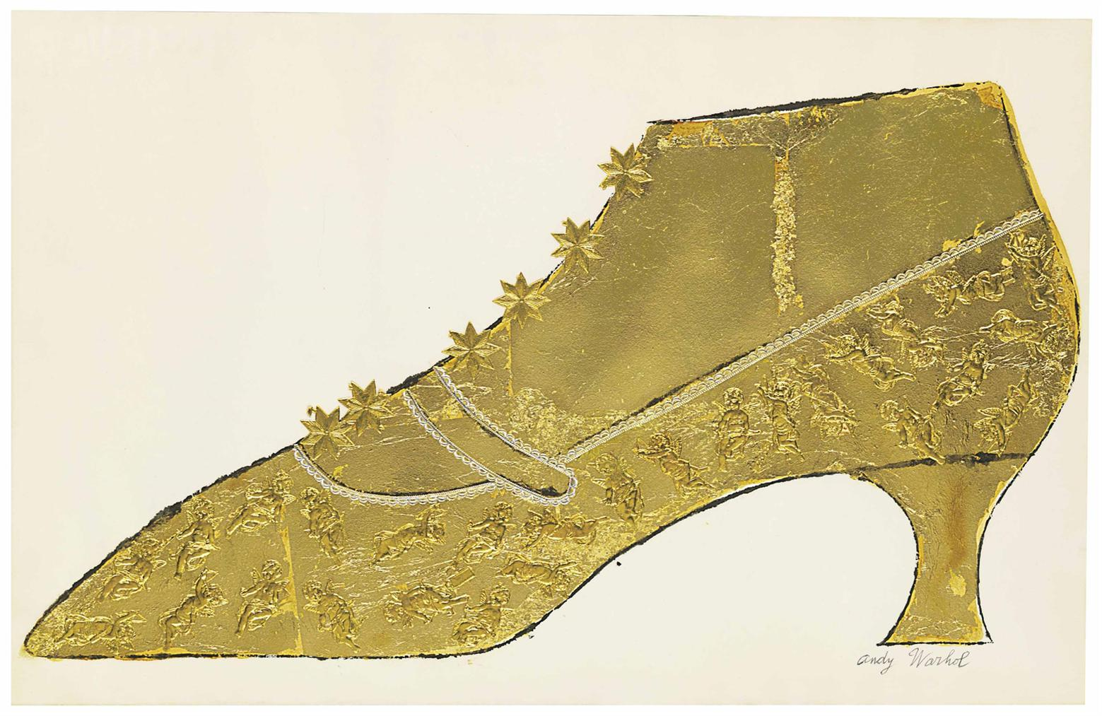 Andy Warhol-Large Gold Shoe-1950