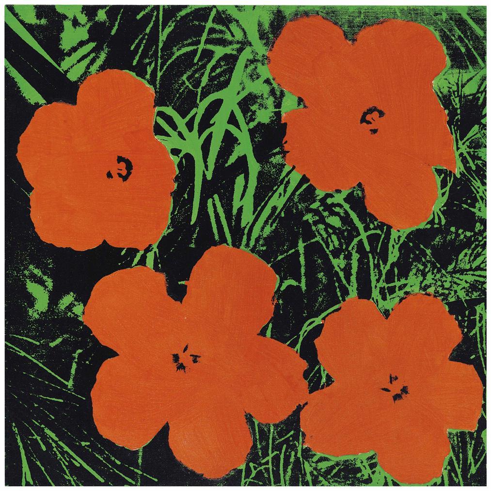 Elaine Sturtevant-Warhol Flowers-1965