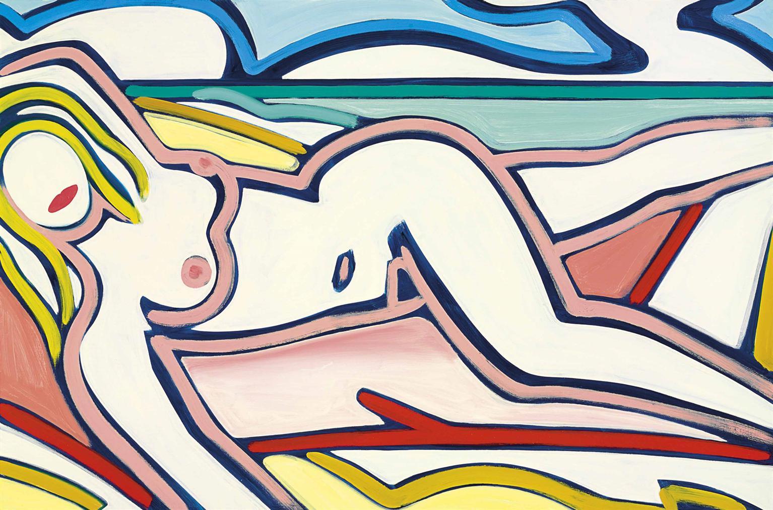 Tom Wesselmann-Blue Nude Drawing-2000