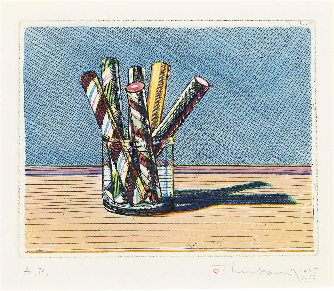 Wayne Thiebaud-Sticks In A Jar-1990