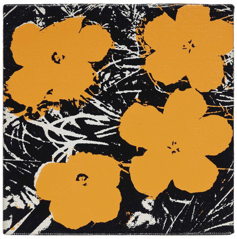 Andy Warhol-Untitled (Orange Flowers)-1964