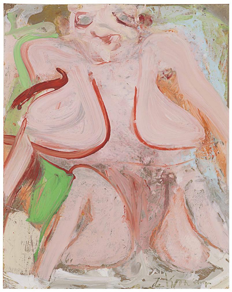 Willem de Kooning-Pink Woman Torso-1967