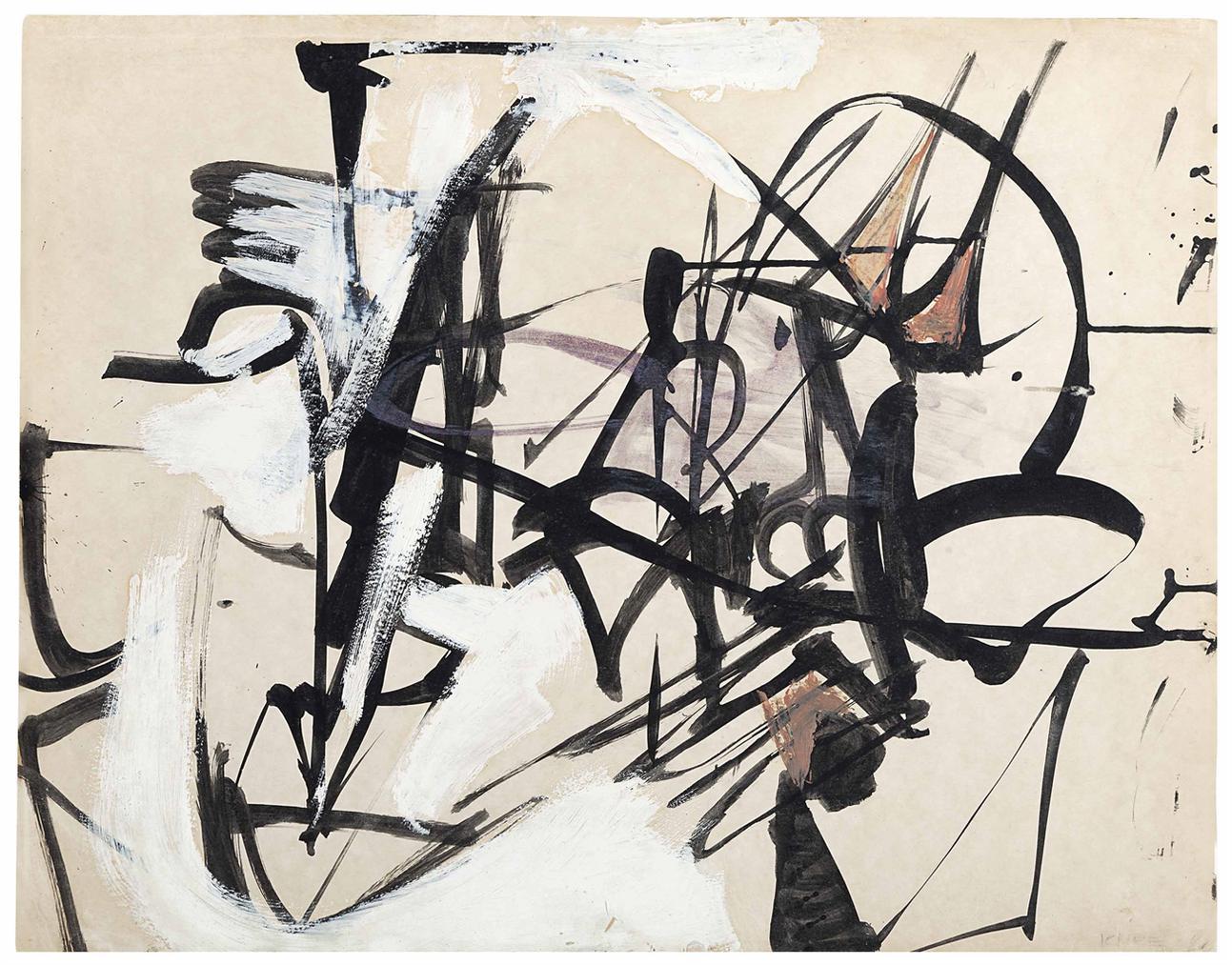 Franz Kline-Untitled-1947