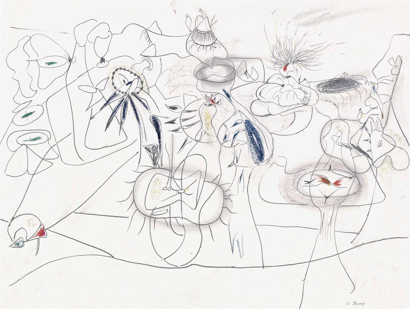 Arshile Gorky-Untitled-1944