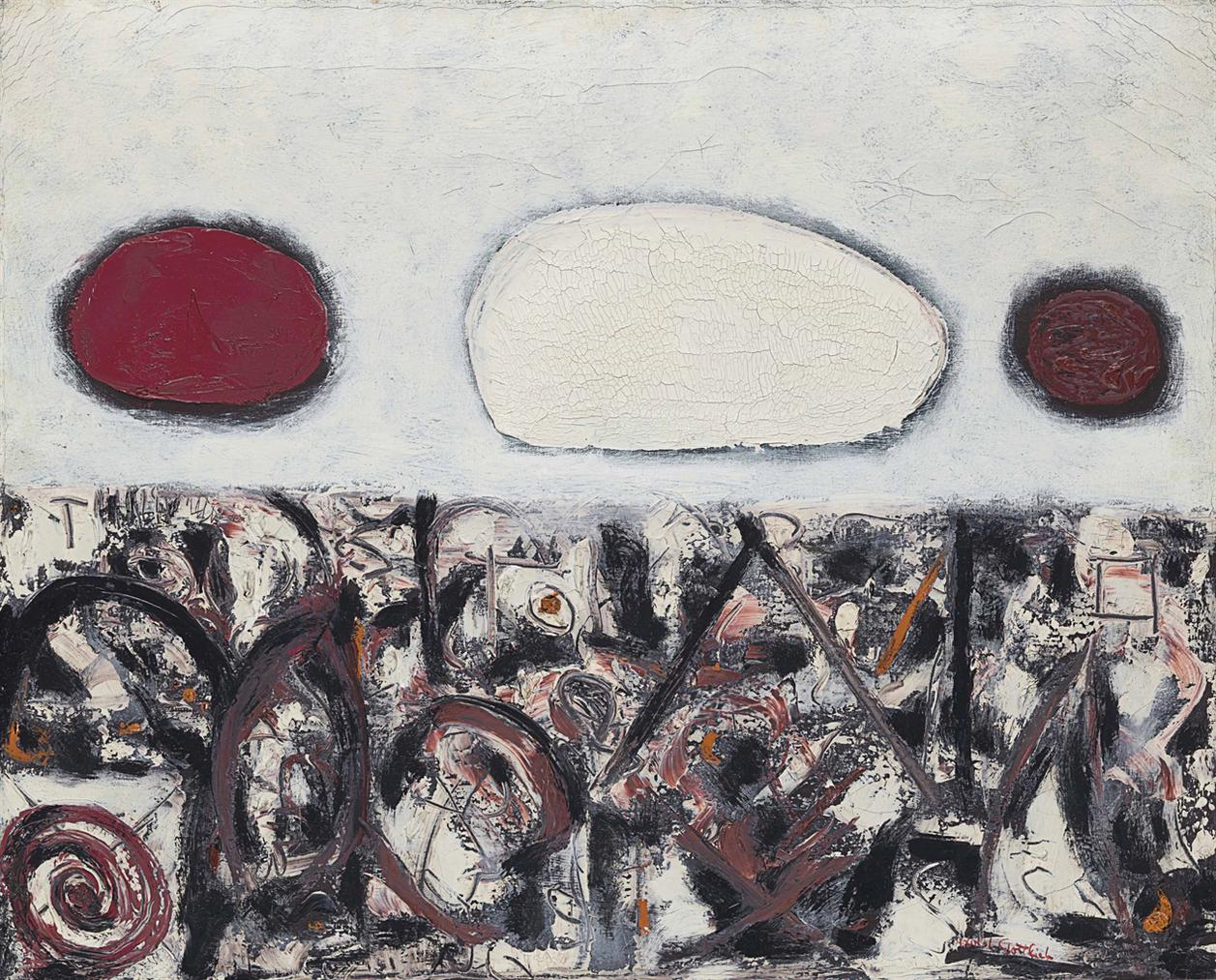 Adolph Gottlieb-Cold Wave-1955