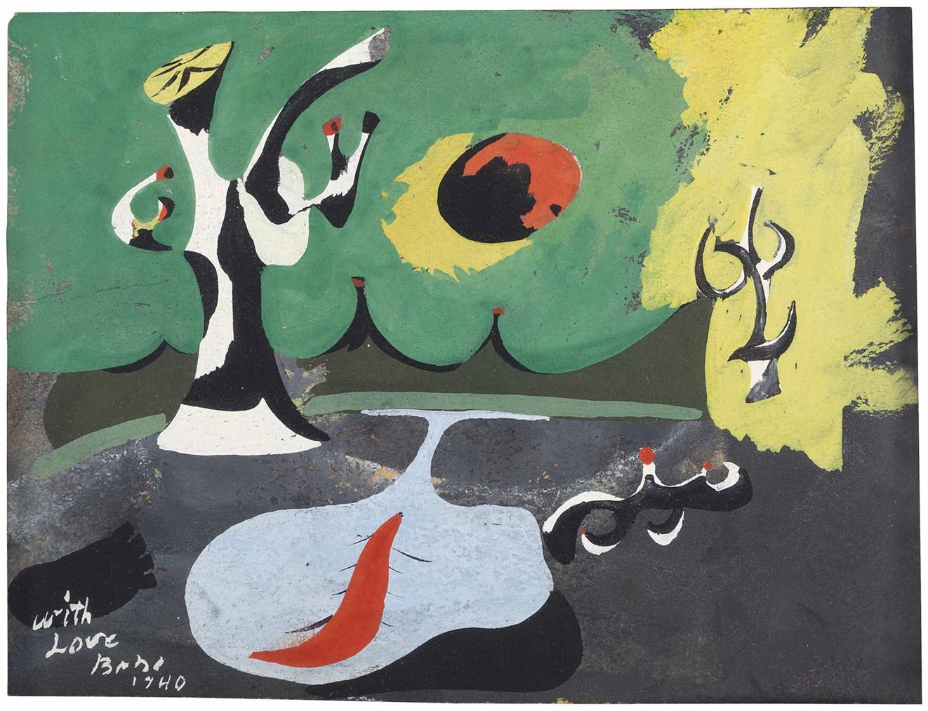 Arshile Gorky-Sketch For Garden In Sochi-1940
