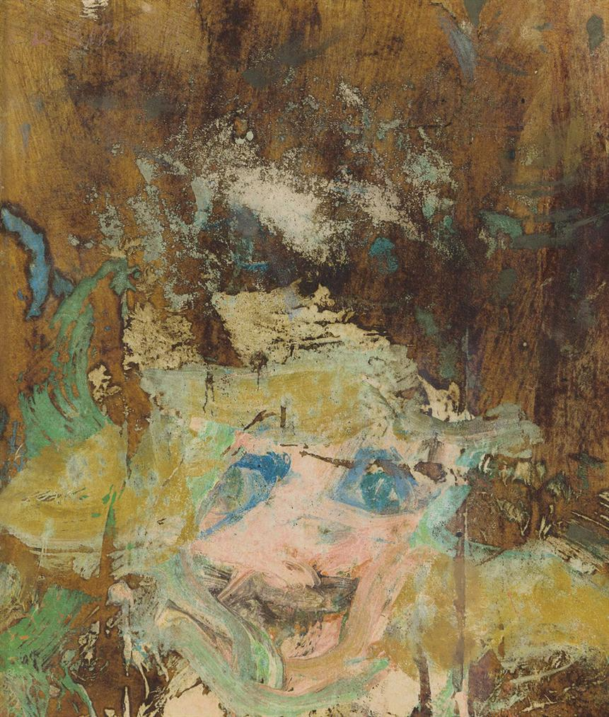 Willem de Kooning-Woman, Pompeiian Wall-1965