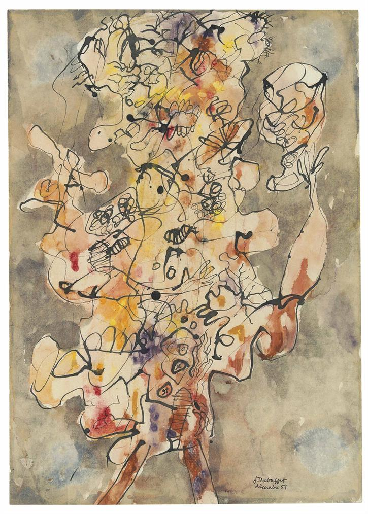 Jean Dubuffet-Bowery Bum-1951