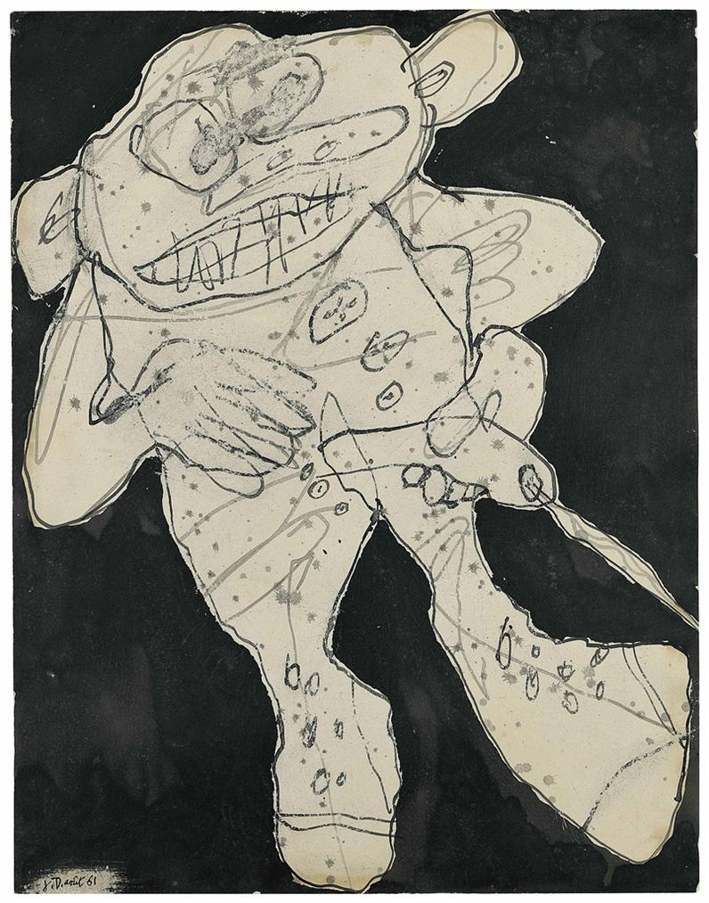 Jean Dubuffet-Pisseur A Droite Iv-1961