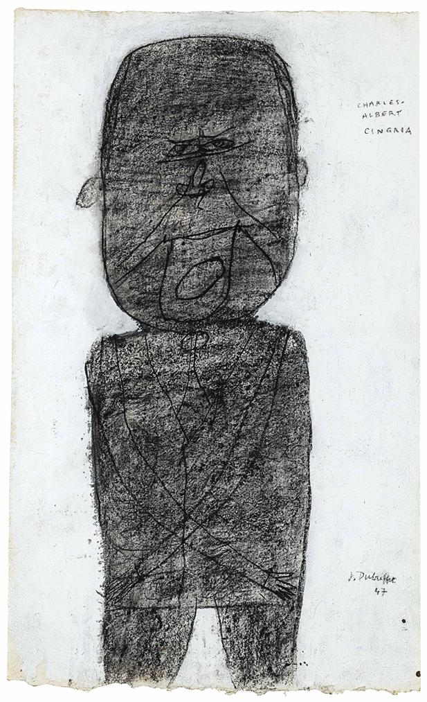 Jean Dubuffet-Portrait Of Charles-Albert Cingria-1946