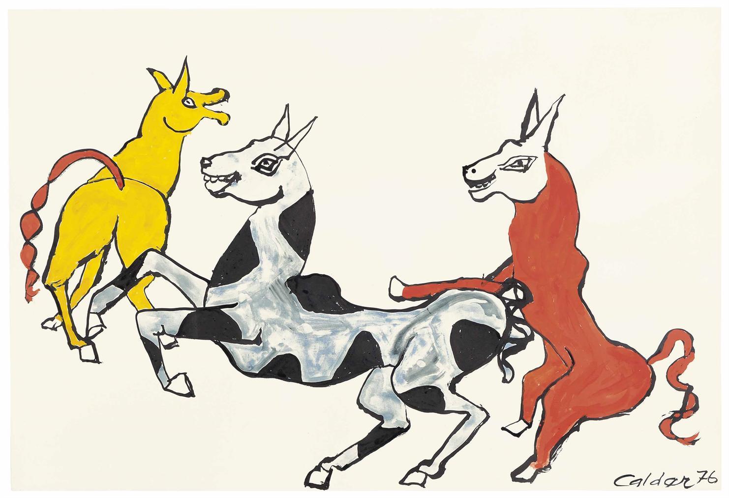Alexander Calder-Rire Jaune-1976