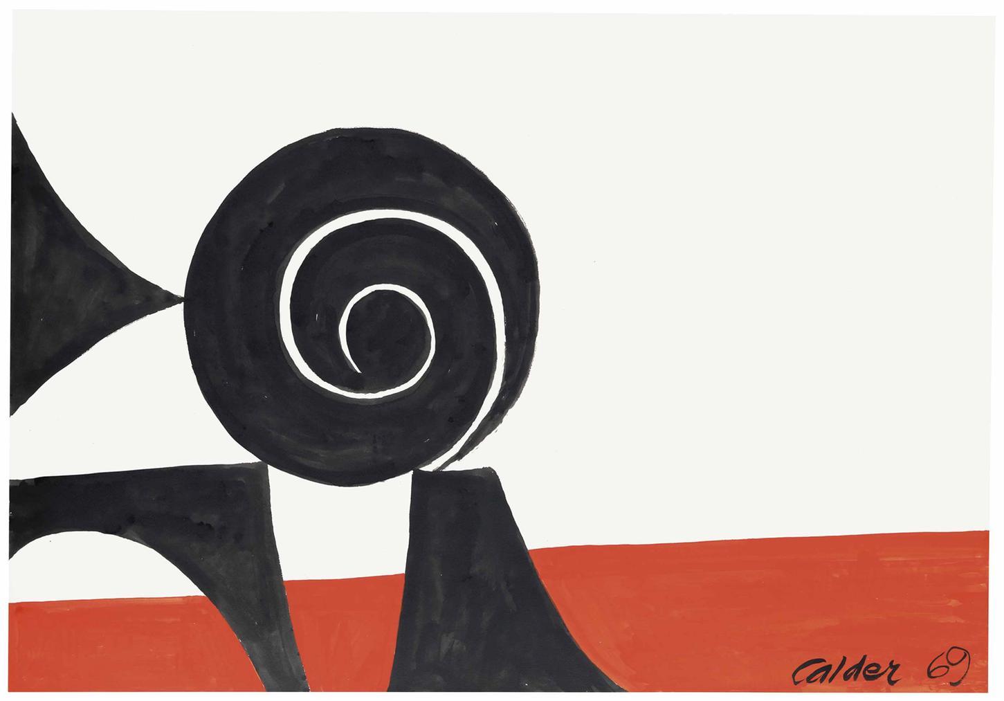 Alexander Calder-Balanced Spiral-1969