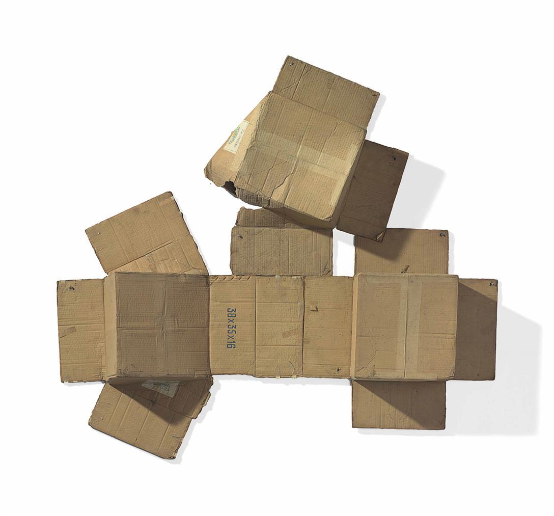 Robert Rauschenberg-Sacred / Universal No. 7/3 Times (Cardboard)-1971