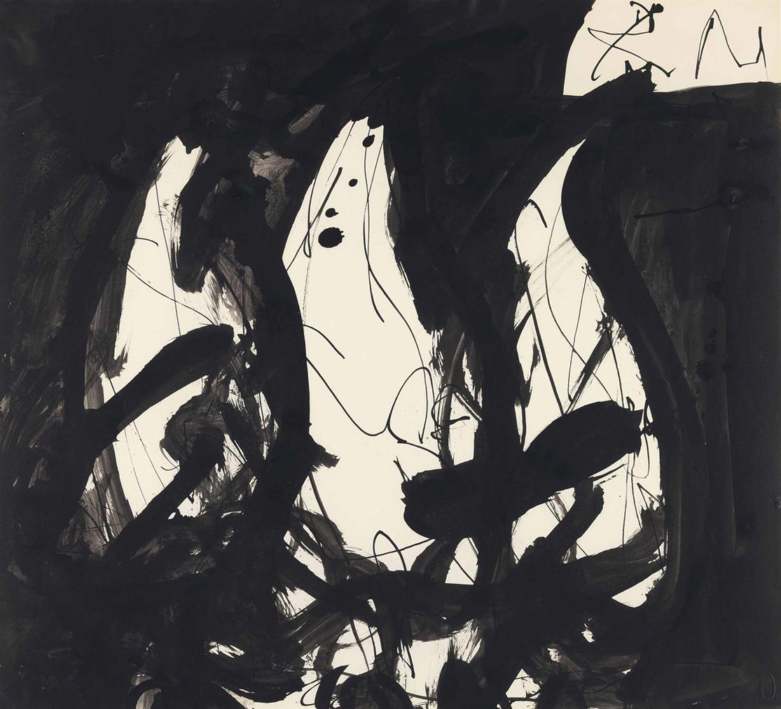 Robert Motherwell-Three Young Birds Waiting To Be Fed-1952