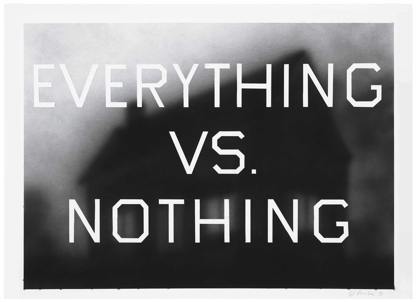 Ed Ruscha-Everything Vs. Nothing-1991
