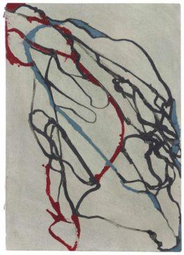 Brice Marden-Hydra Rock 3 (Red, Grey, Green)-2002