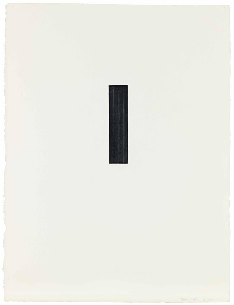 Brice Marden-Paulas Wall I-1973