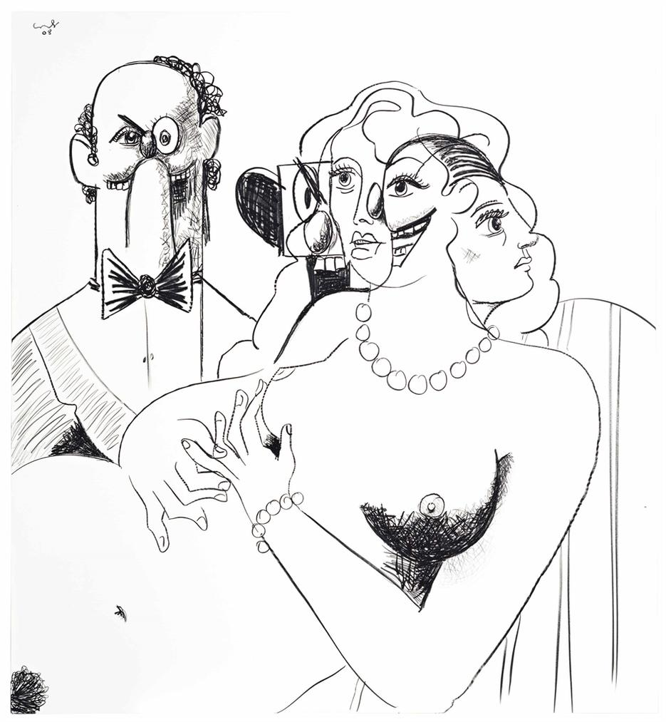George Condo-Figure Composition 2-2008