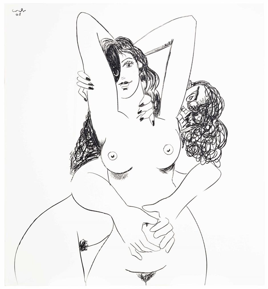 George Condo-Figure Composition 6-2008