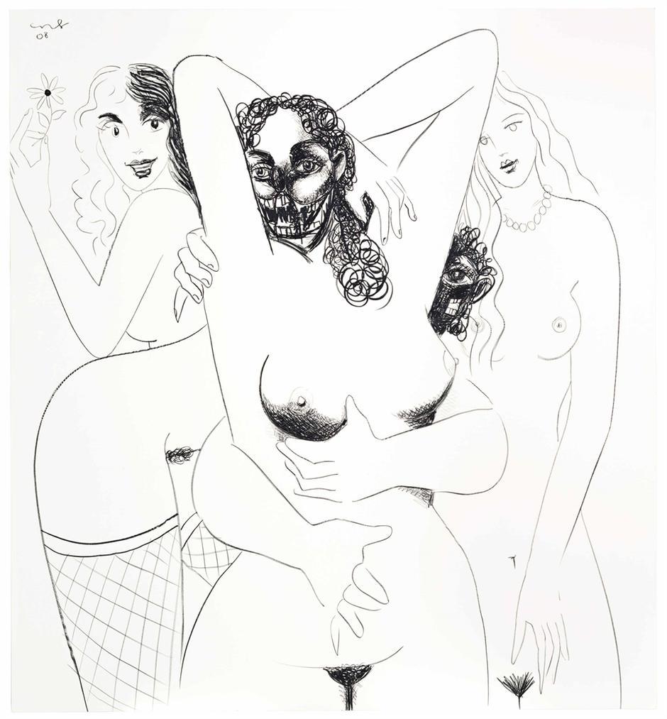 George Condo-Figure Composition 7-2008