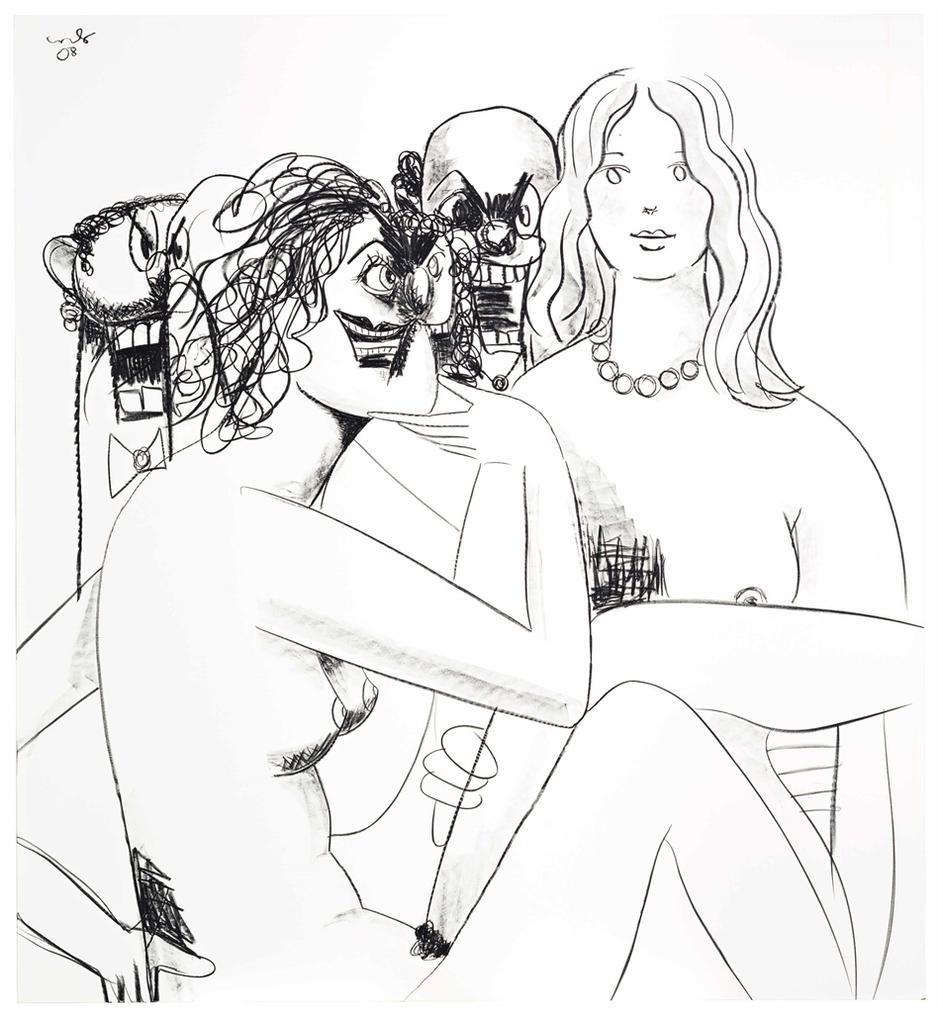 George Condo-Figure Composition 8-2008