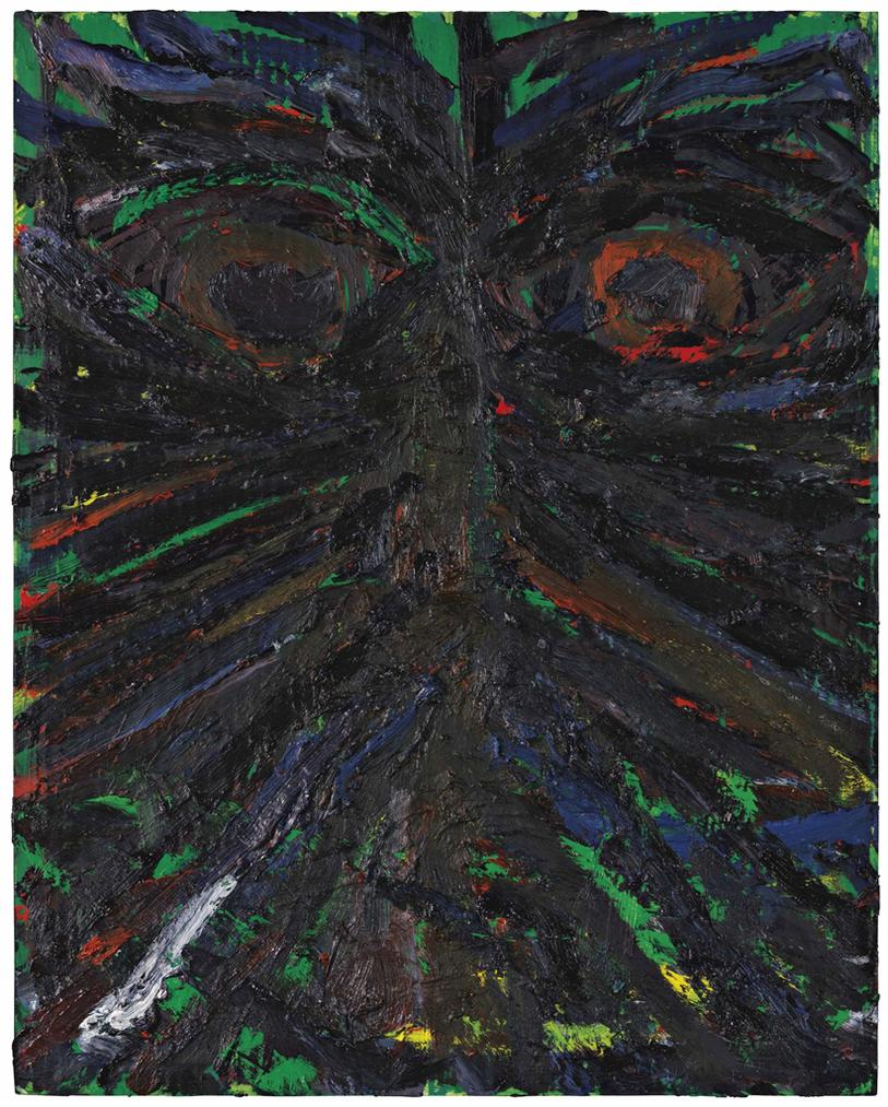 Mark Grotjahn-Untitled (Butterfly Face)-2003