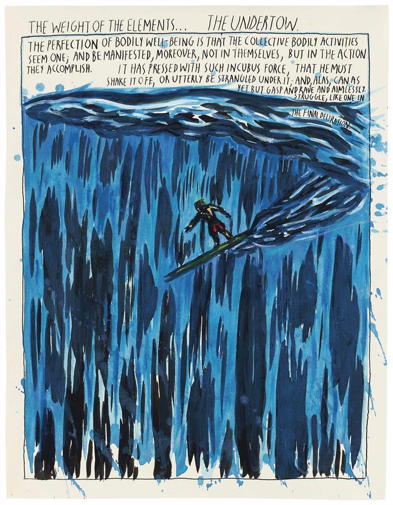 Raymond Pettibon-No Title (The Weight Of...)-1994