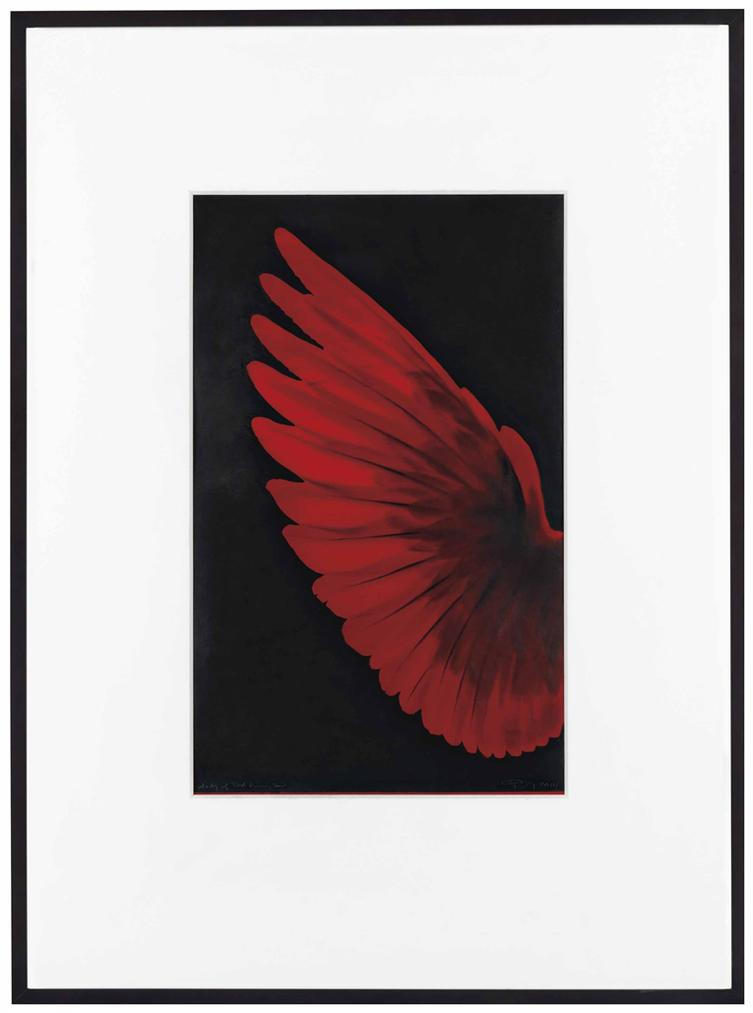 Robert Longo-Study Of Red Humming Bird-2014