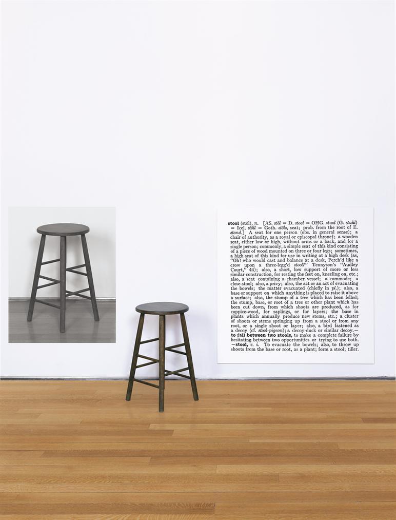 Joseph Kosuth-One And Three Stools, 1965-1965