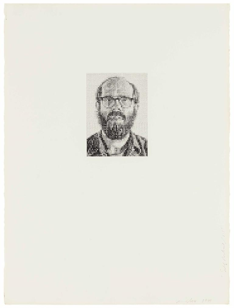 Chuck Close-Self-Portrait / 8X1-1977