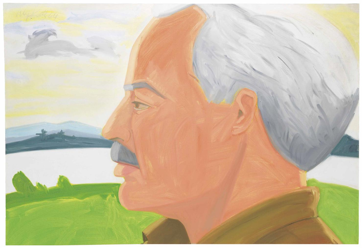 Alex Katz-Study For Portrait Of Neil Welliver-1964