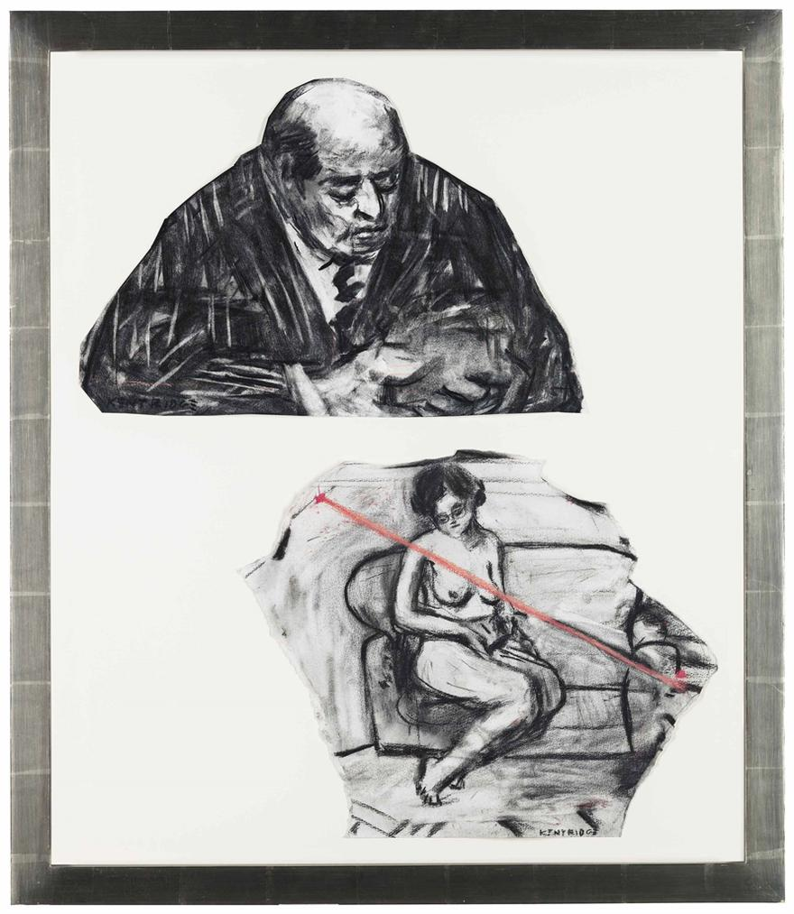 William Kentridge-Untitled, From Weighing ... And Wanting (Two Works)-1998