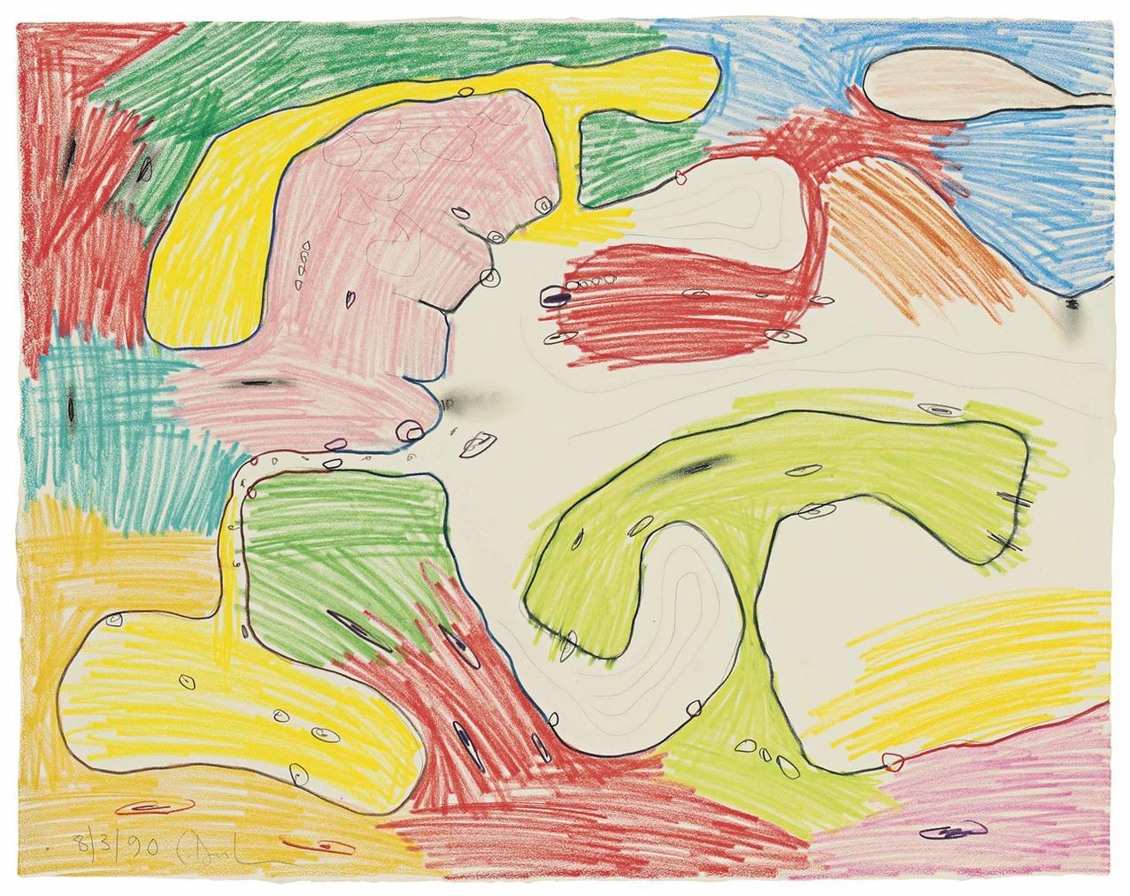 Carroll Dunham-Untitled-1990