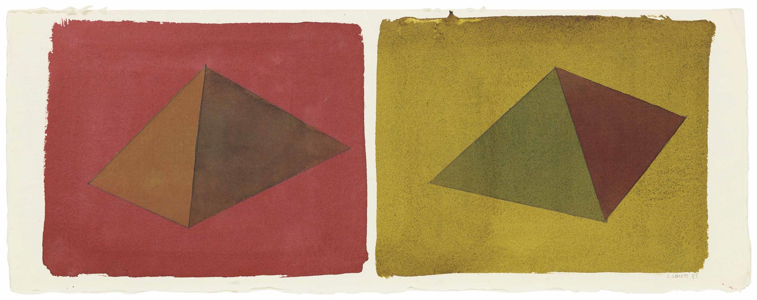 Sol LeWitt-Asymmetrical Pyramids-1985