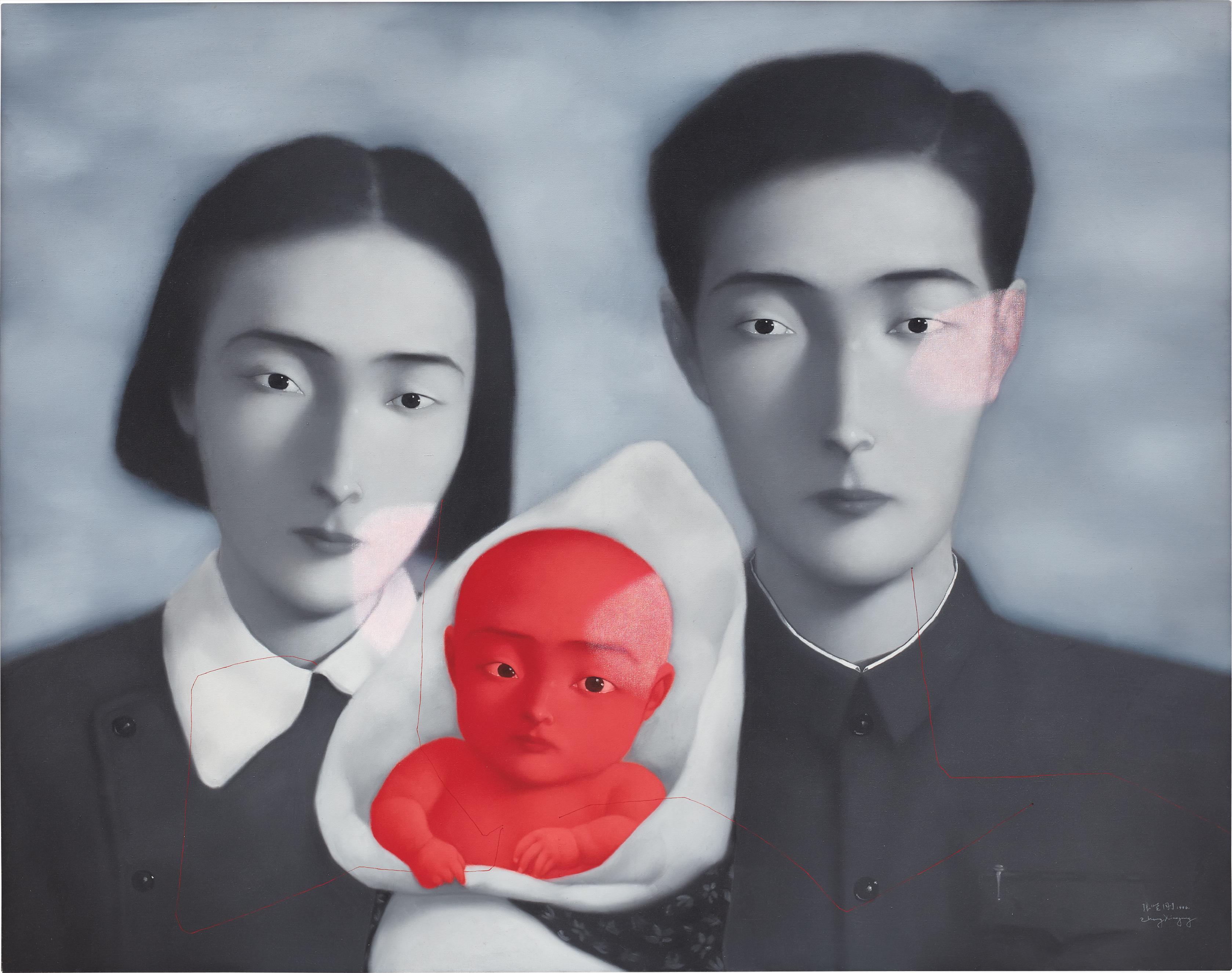 Zhang Xiaogang-Bloodline: Big Family No.9-1996