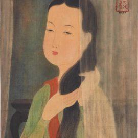 Mai Trung Thu-Lady Combing Hair-1943