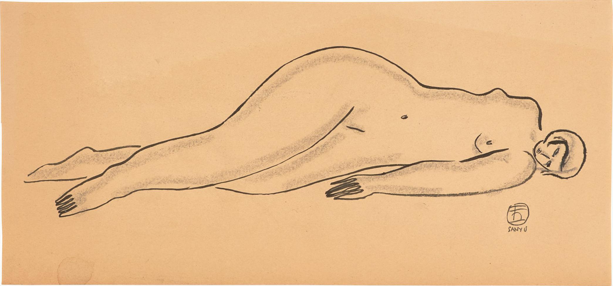 Sanyu-Reclining Nude-