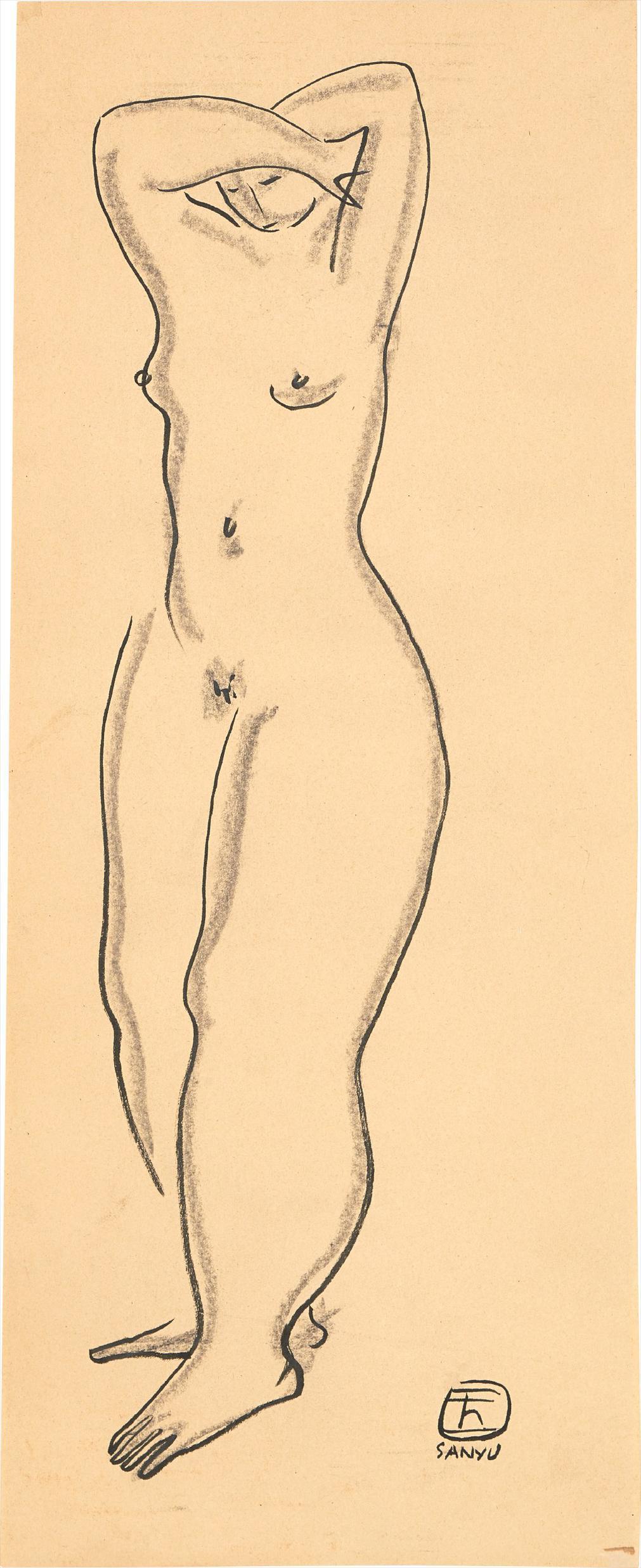 Sanyu-Standing Nude-