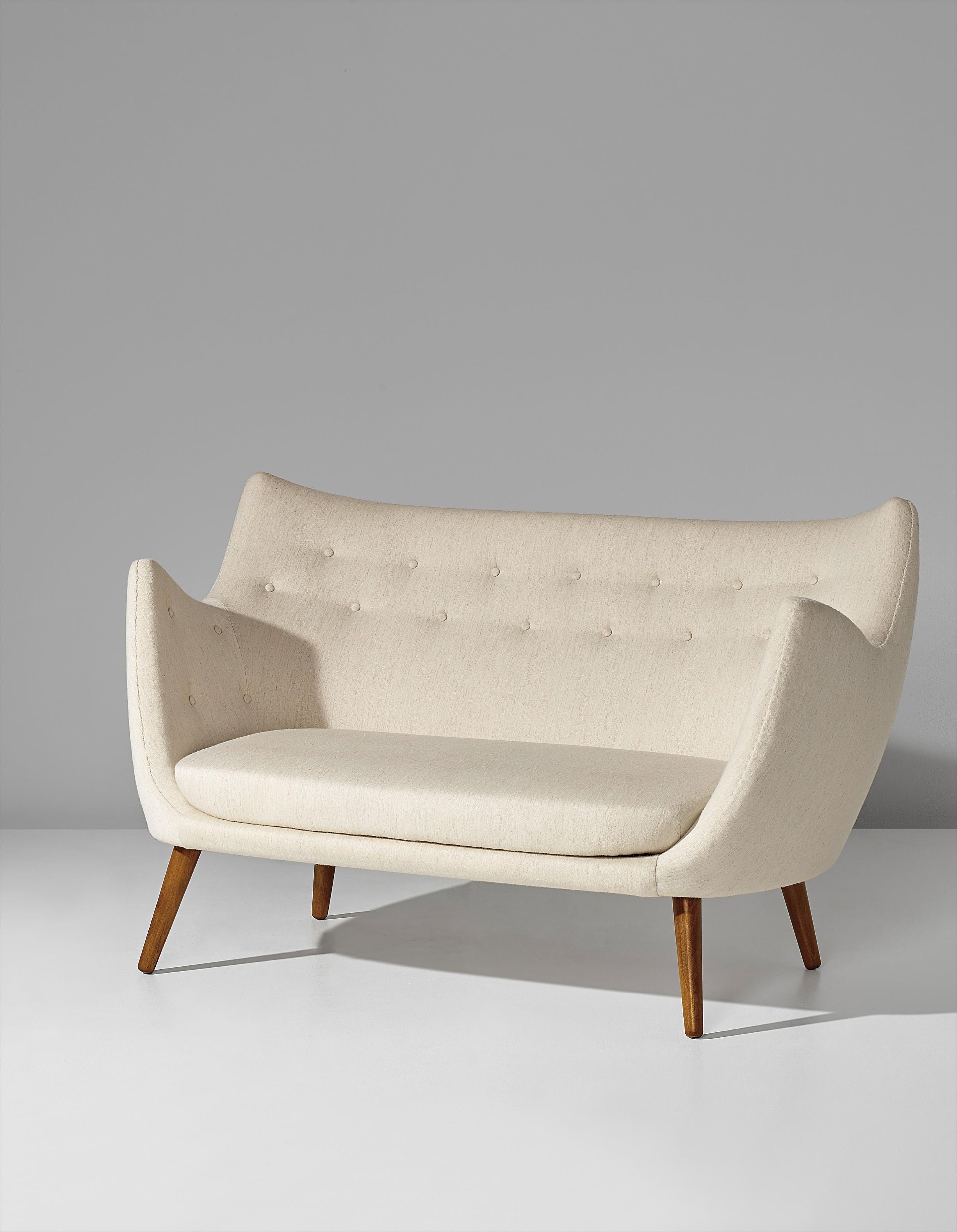 Finn Juhl-Early Two-Seater Sofa, Model No. Fj 41-1941